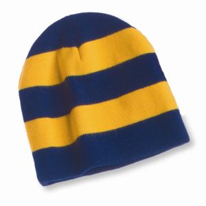 Rugby Striped Knit Beanie Thumbnail