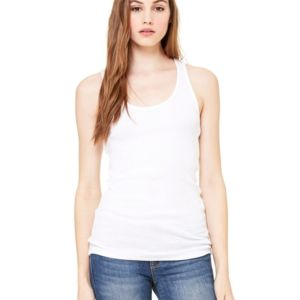 Ladies' 2×1 Rib Racerback Longer Length Tank Thumbnail