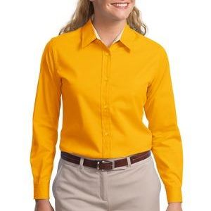 Undecorated_Ladies Long Sleeve Easy Care Shirt Thumbnail