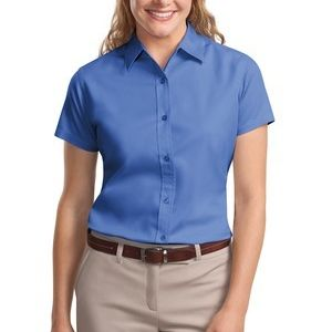 Undecorated Ladies Short Sleeve Easy Care Shirt Thumbnail