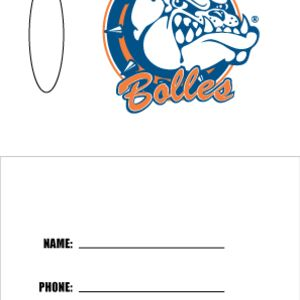 Two Sided Luggage Tag, Bolles Thumbnail