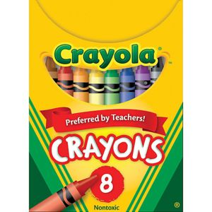 Crayola Standard Crayon Set, Assorted Colors, Box Of 8 Thumbnail