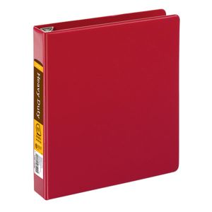 Office Depot Brand Heavy-Duty D-Ring Binder, 1 1/2in Rings, 100% Recycled, Dark Red Thumbnail