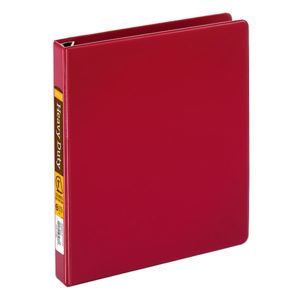 Office Depot Brand Heavy-Duty D-Ring Binder, 1in Rings, 100% Recycled, Dark Red Thumbnail