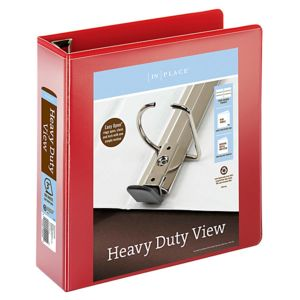 Office Depot Brand Heavy-Duty Easy Open D-Ring View Binder, 3in Rings, 8 1/2in x 11in, 650-Capacity, Thumbnail