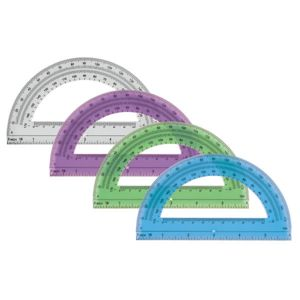 Office Depot Brand Semicircular 6in Protractor, Clear Thumbnail