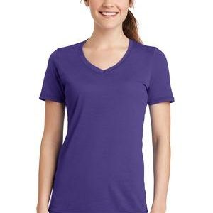 Ladies Essential Blended Performance V Neck Tee Thumbnail